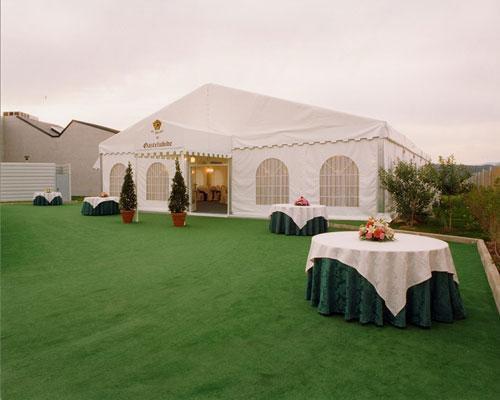 Amplia carpa adaptada a todo tipo de bodas.