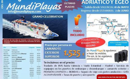 Crucero GRAND CELEBRATION salida 18 de mayo