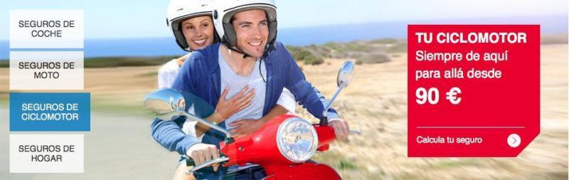 Seguro de ciclomotor desde 90€