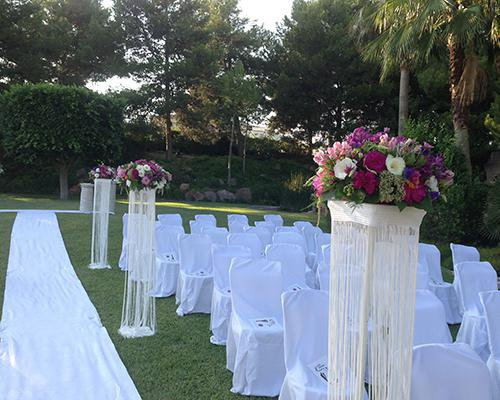 Decoracion floral de la ceremonia