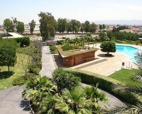 Panoramica de los jardines