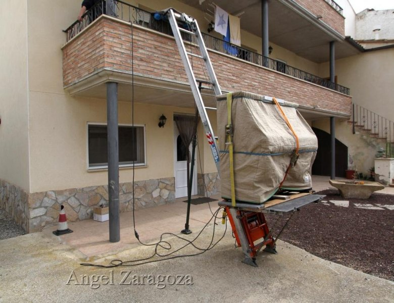 Elevador desmontable alcance cinco plantas