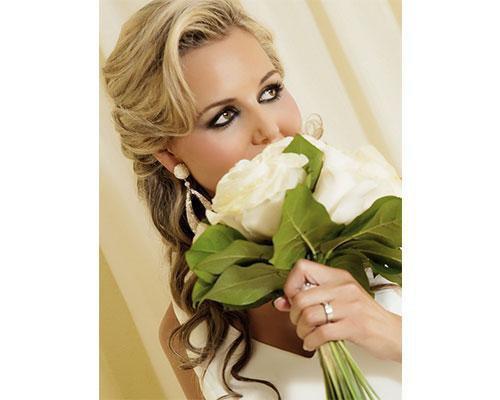 La novia con el ramo