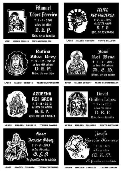 Tipografía lápidas