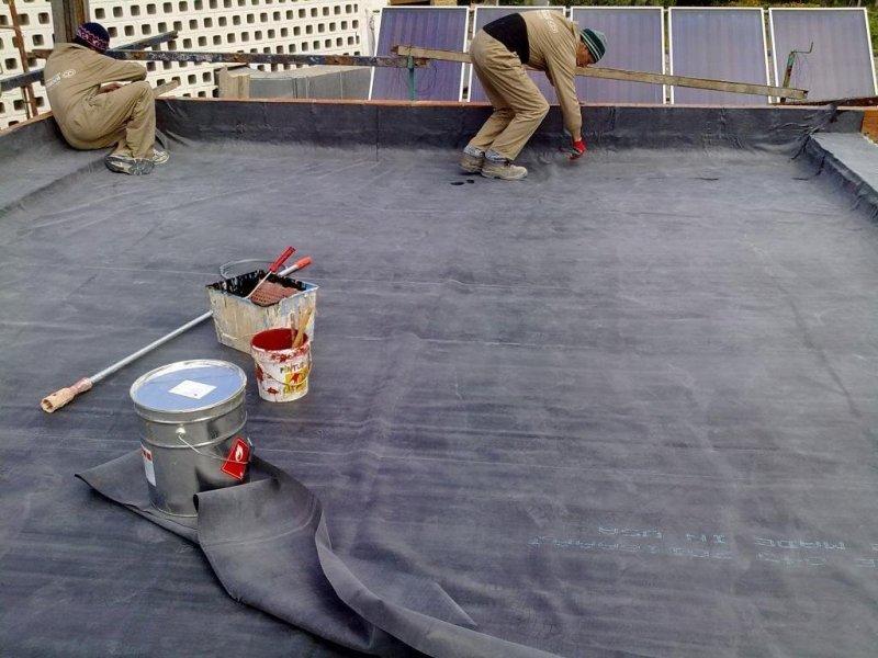 Impermeabilización de terrazas con láminas E.P.D.M.