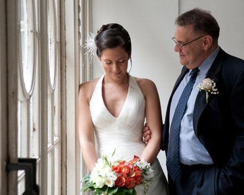 El padrino con la novia