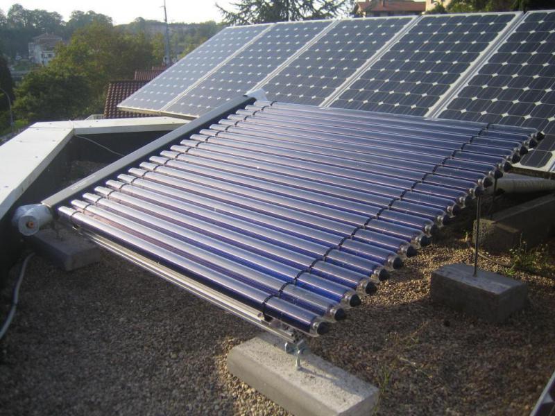 Colentadores de agua solar