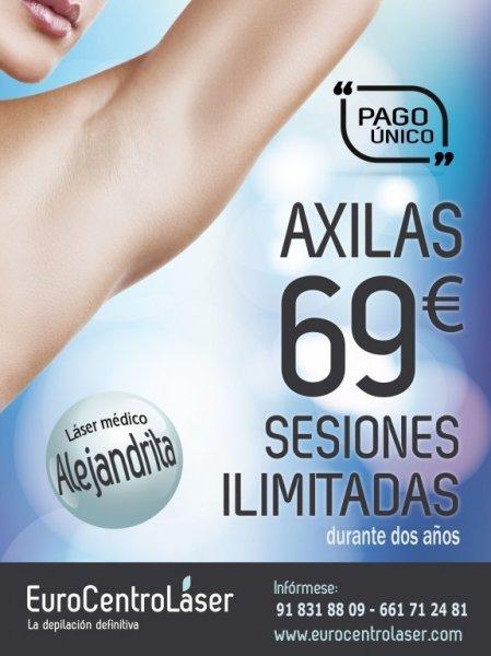 Promo Estrella Axilas. Sesiones ilimitadas durante 2 años por 69€