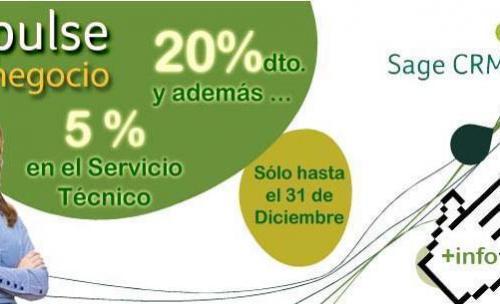 Consigue un 20% de descuento en Sage CRM ¡Sólo hasta finales de mes!
