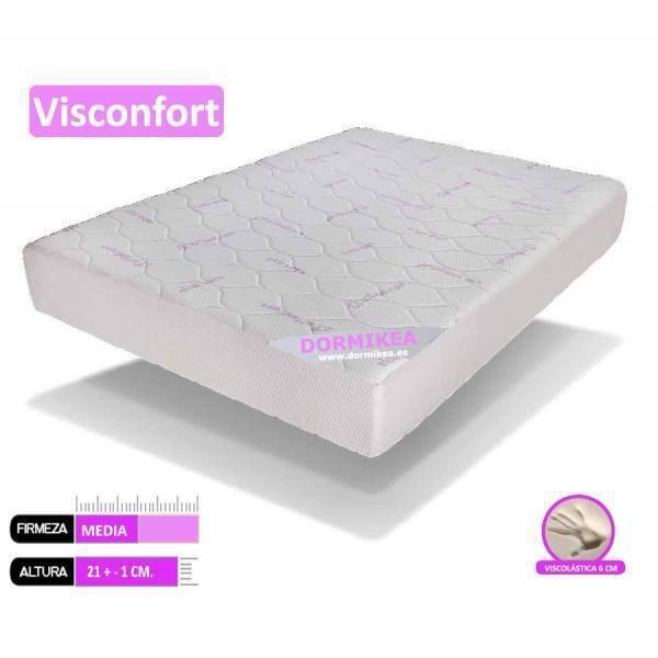Colchon Viscoelastico Visconfort. 6cm Viscoelastica transpirable