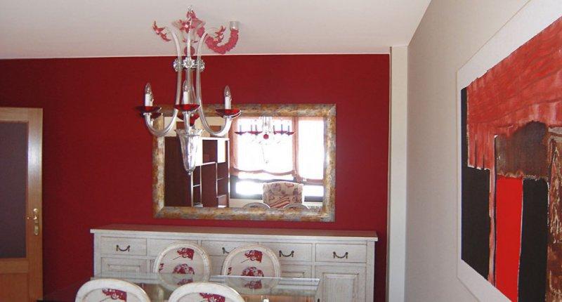 Pintura de salón en dos colores