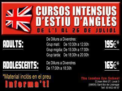 Cursos intensivos de inglés el mes de Julio