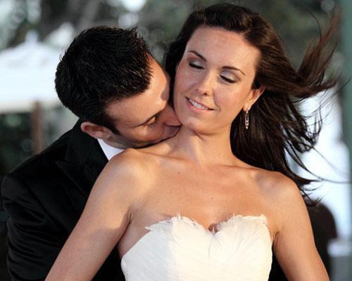 Romántico beso