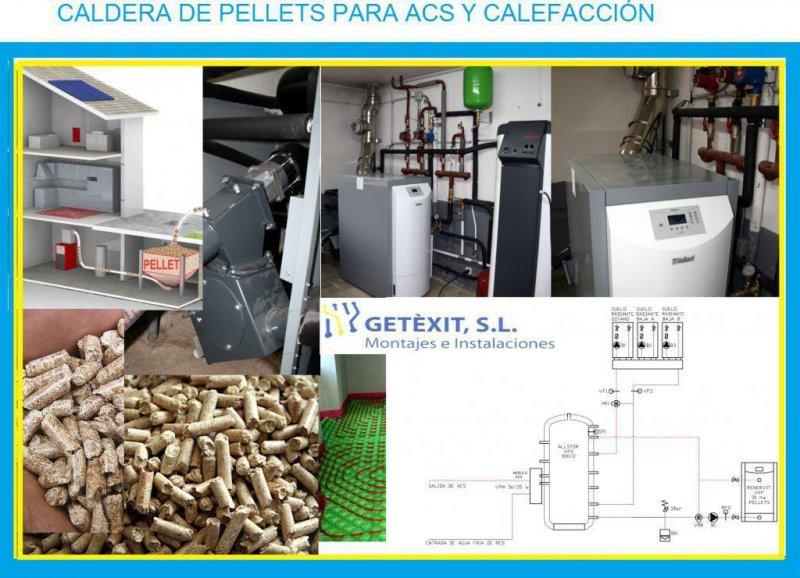 CALDERA DE PELLETS PARA ACS Y CALEFACCIÓN