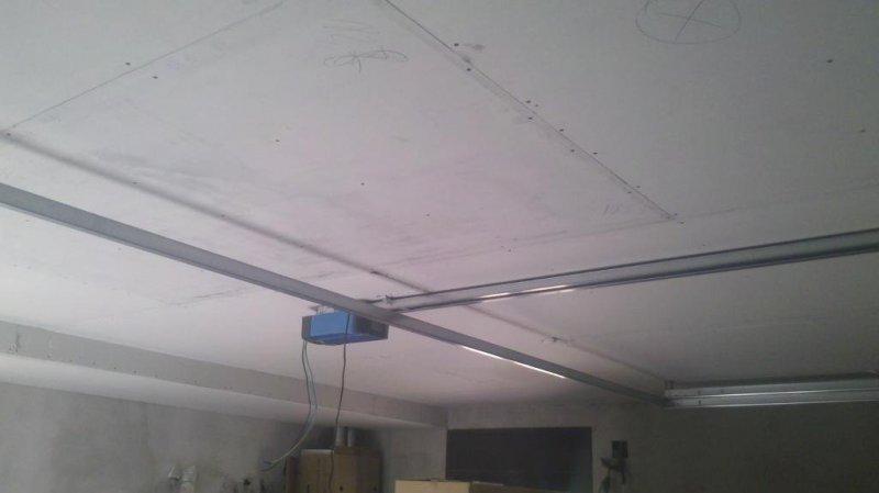 techo pladur en garaje