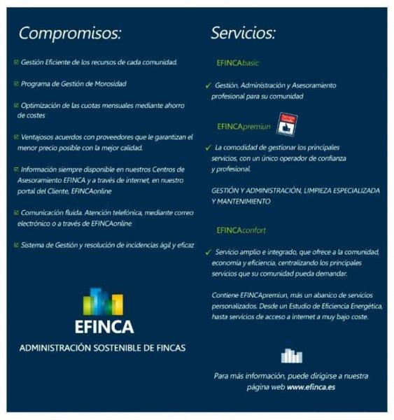 Tríptico Servicios EFINCA