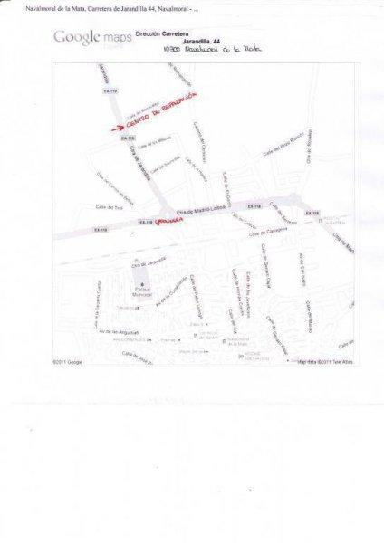 Mapa correcto sobre la ubicación del taller