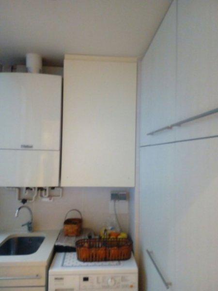 mueble a medida zona lavadero, interior tambien forrado