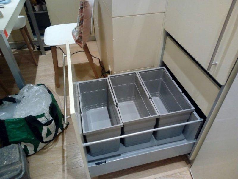 mueble con cajas organizadoras a medida