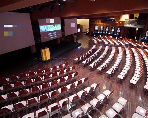 Vista lateral del auditorio