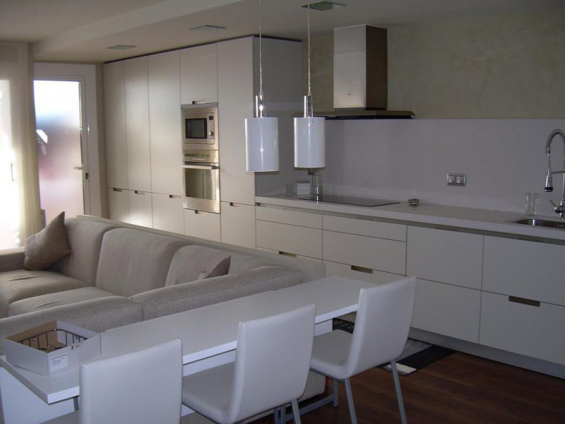 cocina integrada en salón comedor