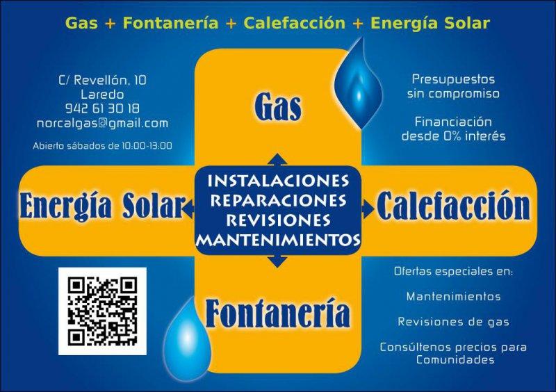 Trabajos y servicios Norcalgás Solar