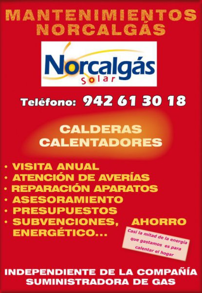 Mantenimientos caldera Norcalgás Solar 942613018