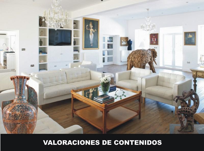 VALORACIÓN DE CONTENIDOS, BIENES MUEBLES