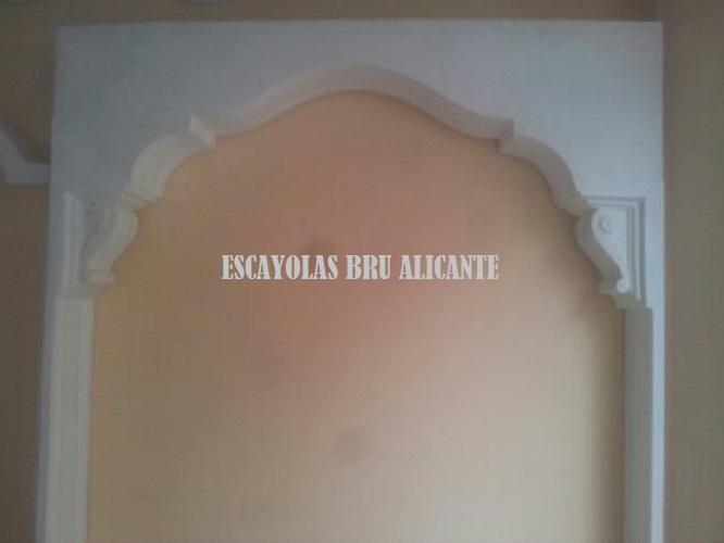 arco de escayola Alicante, Escayolas Bru