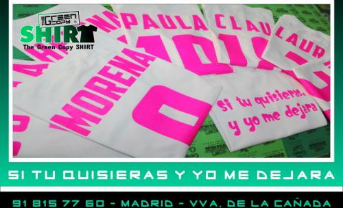 Impresión de Camisetas Personalizadas en MADRID