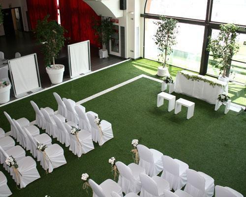 Montaje de ceremonia en el interior