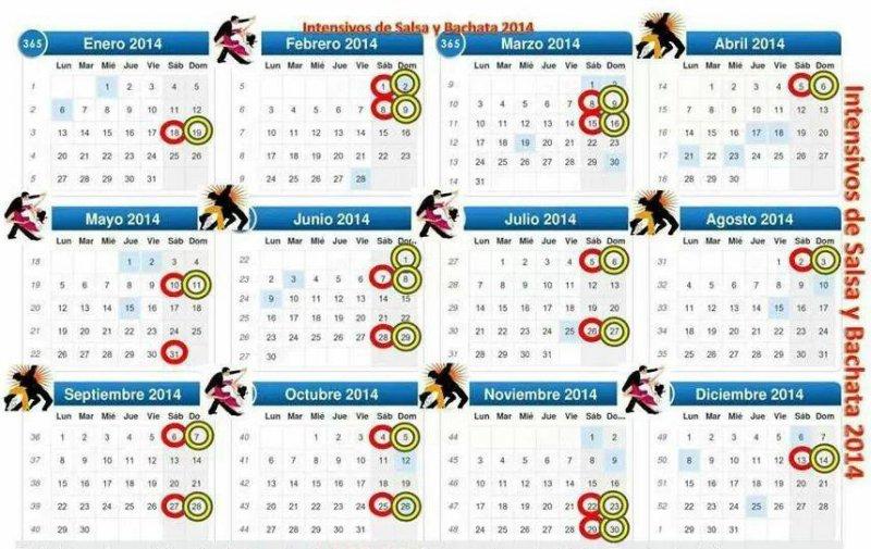 Calendario de Intensivos