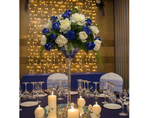Decoración floral de mesas