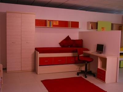 Composición juvenil armario, estanteria, compacto cama y arrastre 350€. Escritorio opcional.