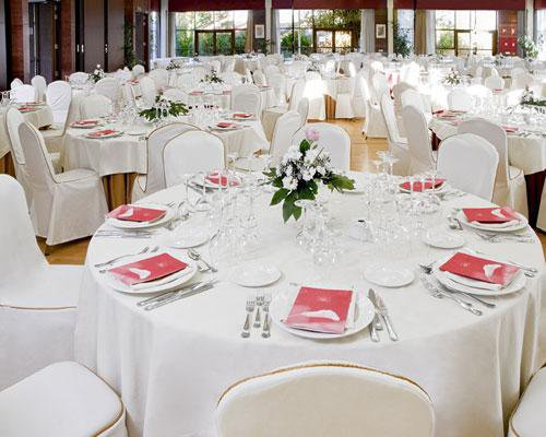 Detalle de montaje para banquete