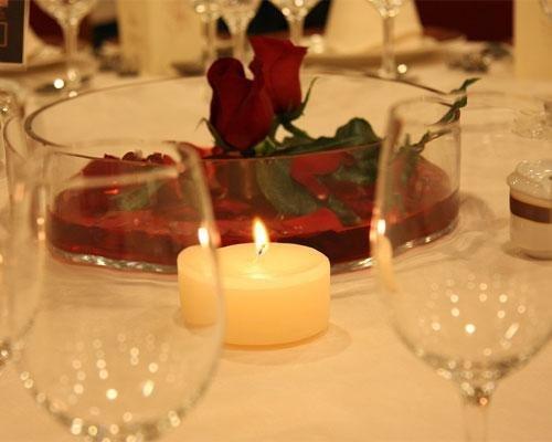 Centro de mesa con vela