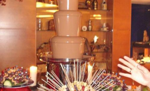 fuente chocolate