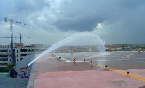 Sistemas contra incendios en Helipuertos