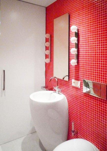 Baño Rojo - Loft Barcelona   08023 Arquitectos