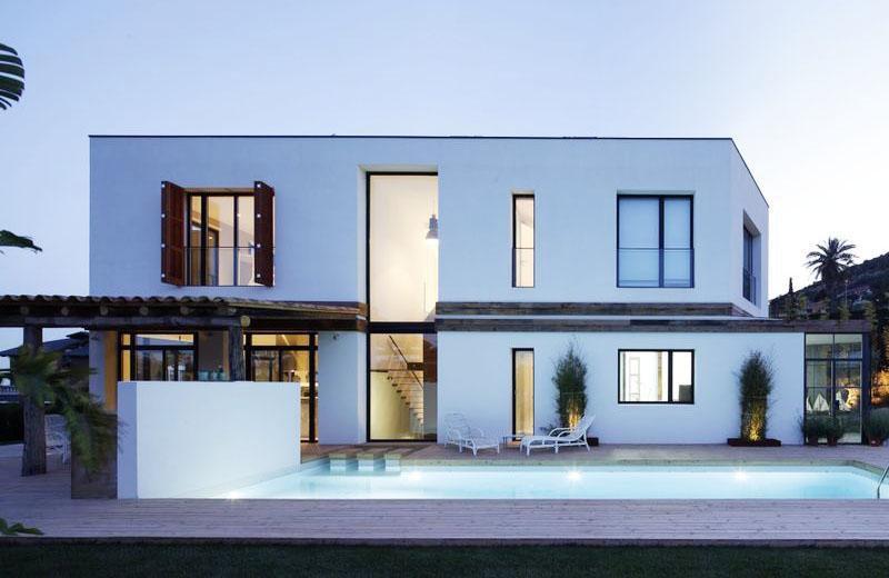 Vista nocturna Casa A - 08023 Arquitectos - Barcelona