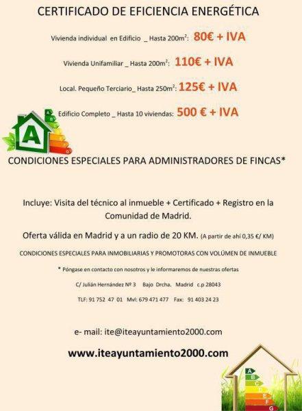 Certificados energéticos en Madrid