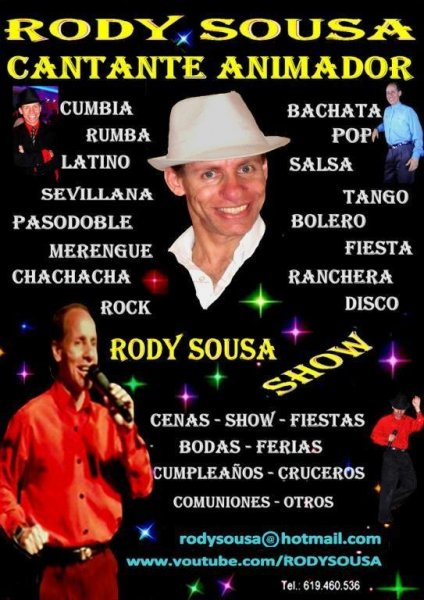 Cantante Animador todos Eventos Rody Sousa