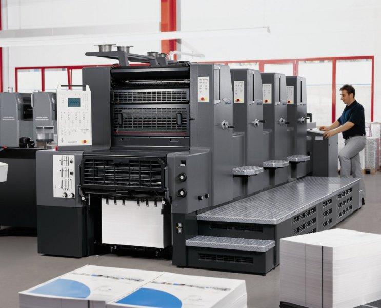 Imprenta Offset en Madrid nuestro equipo Offset Heidelberg print Master de 4 colores