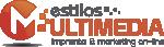 logotipo e imagen de imprenta estilosmultimedia