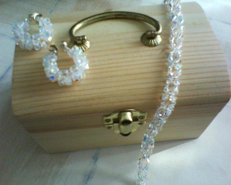 Pulsera y Pendientes Diamante