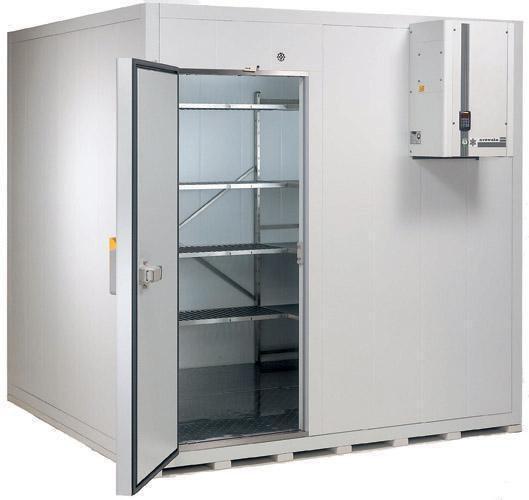 cámara frigorífica con motor en pared
