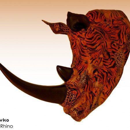 Cabeza rinoceronte decoración African