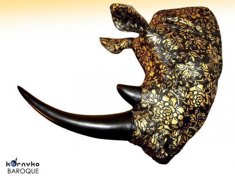 Cabeza rinoceronte decoración Baroque