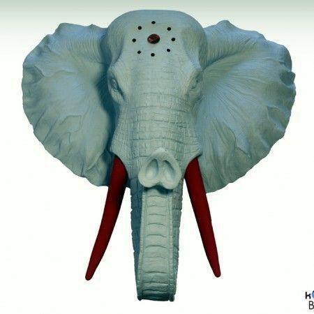 Cabeza elefante decoración Blue