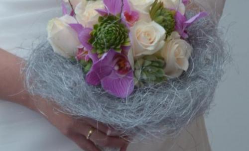 Bouquet orquídeas y crasas